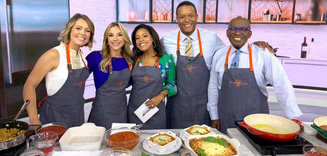 I visited the TODAY Show studios for their Make-Ahead Monday series. Watch for my Zucchini Lasagna. Plus, a Lasagna Soup and a delicious Lasagna Shakshuka!
